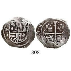 Mexico City, Mexico, cob 1 real, Philip III, assayer A.