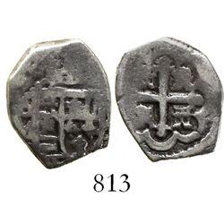 Mexico City, Mexico, cob 1 real, 1728/7(D), rare.