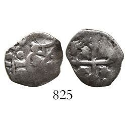 Mexico City, Mexico, cob 1/2 real, 1671G, very rare.
