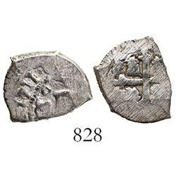 Mexico City, Mexico, cob 1/2 real, 1711(J), rare.
