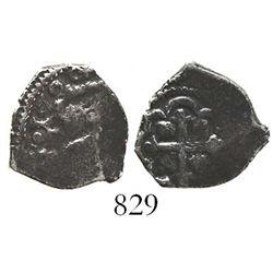 Mexico City, Mexico, cob 1/2 real, 1720(J), very rare.