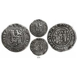 Lima, Peru, 4 reales, Philip II, assayer R (Rincon) to left, legends HISP / NIARVM, motto as PL-VSVL