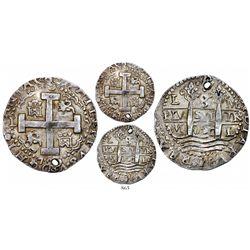 Lima, Peru, cob 8 reales Royal, 1720M, extremely rare, Calico cover coin.