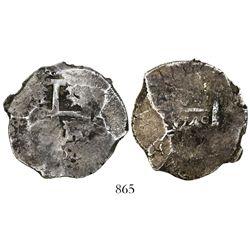 Lima, Peru, cob 8 reales, 1749R, rare, ex-Sellschopp.