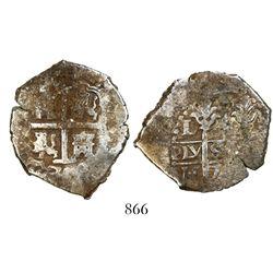Lima, Peru, cob 4 reales, 1703H.