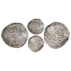 Potosi, Bolivia, cob 8 reales, Philip II, assayer Rincon, very rare first 8 reales of the Potosi min