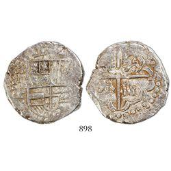 Potosi, Bolivia, cob 8 reales, Philip IV, assayer T (late 1620s), ex-Panama hoard.