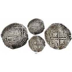 Potosi, Bolivia, cob 8 reales, 1648R, extremely rare.