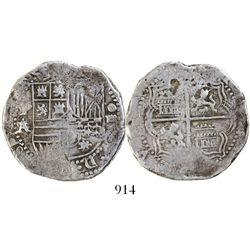 Potosi, Bolivia, cob 4 reales, Philip II, assayer A/B, ex-Karon.