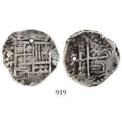 Potosi, Bolivia, cob 4 reales, Philip III, assayer T.