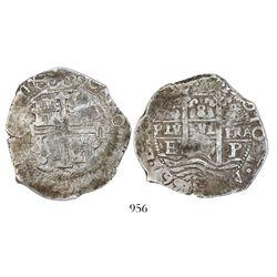 Potosi, Bolivia, cob 8 reales, 1667E.