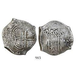 Potosi, Bolivia, cob 8 reales, 1721(Y).