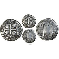 Potosi, Bolivia, cob 8 reales Royal, 1746q, rare.