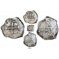 Potosi, Bolivia, cob 8 reales, 1771/0V/J, unique and unlisted.