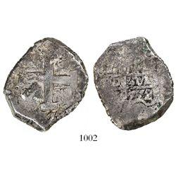 Potosi, Bolivia, cob 8 reales, 1772V-Y.