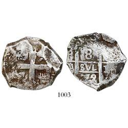Potosi, Bolivia, cob 8 reales, 1772/1V-(Y), rare.