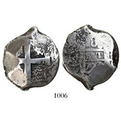Potosi, Bolivia, cob 8 reales, 1773V, rare.