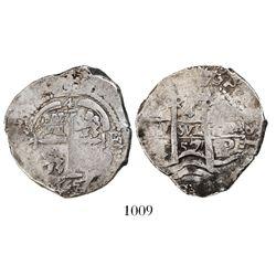 Potosi, Bolivia, cob 4 reales, 1657E.