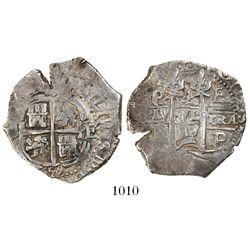 Potosi, Bolivia, cob 4 reales, 1659E.