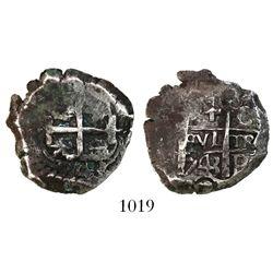 Potosi, Bolivia, cob 4 reales, 1743C.