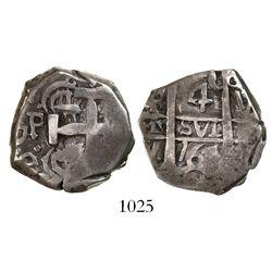 Potosi, Bolivia, cob 4 reales, 1767V-Y.