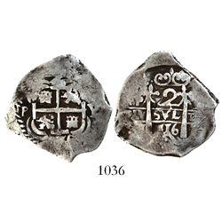 Potosi, Bolivia, cob 2 reales, 1716Y.