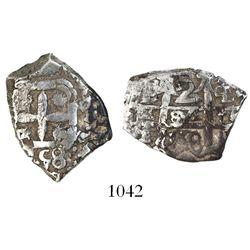 Potosi, Bolivia, cob 2 reales, 1758q.