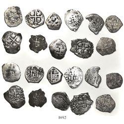 Lot of 11 Potosi, Bolivia, cob 1R, Philip IV through Ferdinand VI, various dates and assayers (1652E