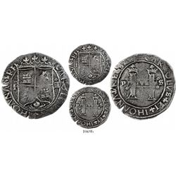Santo Domingo, Dominican Republic, 4 reales, Charles-Joanna, assayer F to left, extremely rare.