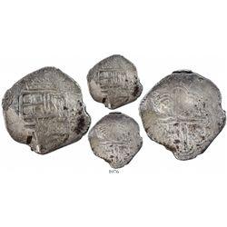 Bogota, Colombia, cob 8 reales, (16)27(P), rare.