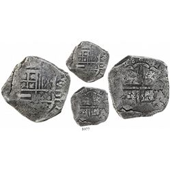 Bogota, Colombia, cob 8 reales, (16)28(P), rare.