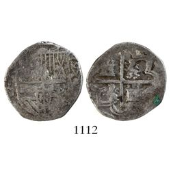 Segovia, Spain, cob 1 real, (15)95, date to right, assayer I to left, rare.