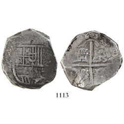 Seville, Spain, cob 8 reales, 1603(B), rare.