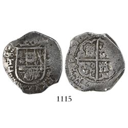 Toledo, Spain, cob 4 reales, 1605C, unlisted date.