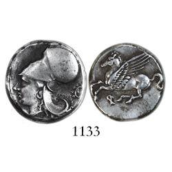 "Corinth, AR stater, 345-307 BC, ""pegasus."""
