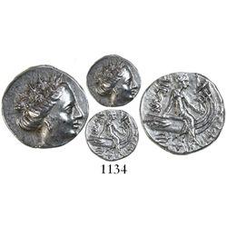 Histiaia, Euboia, AR tetraobol, 3rd to 2nd century BC.
