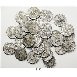 Large lot of 30 Indo-Scythian AR drachms of Azes II, ca. 35 BC to 5 AD.