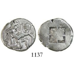 Island of Thrace, Thasos, AR stater, 500-480 BC.