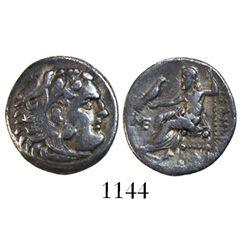 Kings of Macedon, AR drachm, Alexander III (the Great), 336-323 BC, Abydos, ca. 310-301 BC, struck u