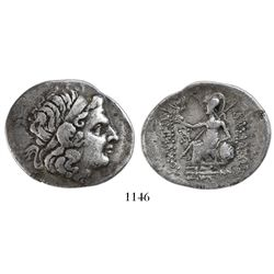 Kings of Thrace, AR tetradrachm, Lysimachos, 305-281 BC, Byzantion mint, 2nd-1st century BC.