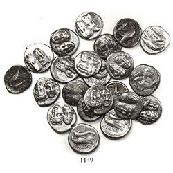 Large lot of 23 Moesia, Istros, AR drachms, ca. 400-350 BC.