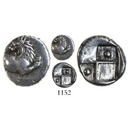 Thrace, Cherronesos, AR hemidrachm, 386-338 BC.