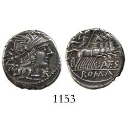 Roman Republic, AR denarius, L. Antestius Gragulus, 136 BC, Rome mint.