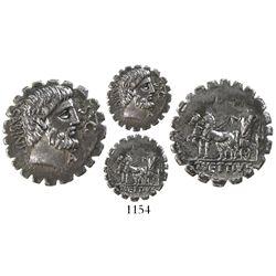 Roman Republic, AR denarius, Vettius Sabinus, ca. 70 BC.