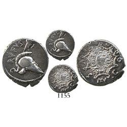 Roman Republic, AR denarius, Mn. Cordius Rufus, 46 BC.