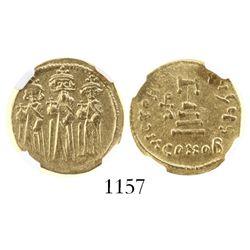 Byzantine Empire, AV solidus, Heraclius, 610-641 AD, encapsulated NGC XF strike 4/5 surface 3/5 clip
