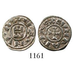Genoa (Italian States), AR denaro, Conrad I-III, 1139-1339.