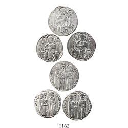 Lot of 3 Venetian grossos (1200-1350 AD).
