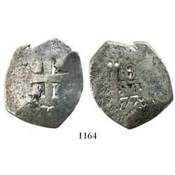"Northern Argentina, ""imitation cob"" 8 reales (cast), 1778, very rare."