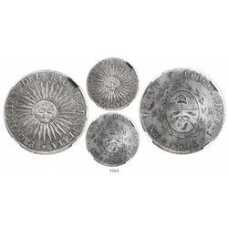 Argentina (Potosi mint), 8 reales, 1813J, encapsulated NGC AU 53.